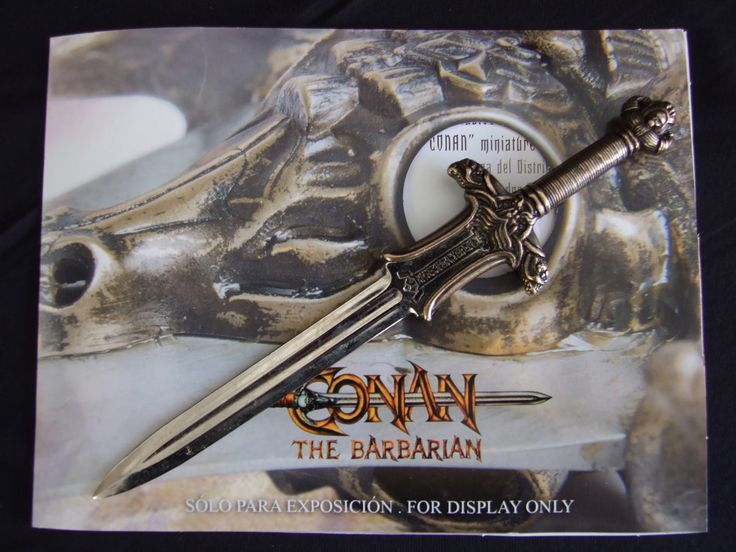 Mini espada Abrecartas Conan el Bárbaro. Atlantean, 17cm