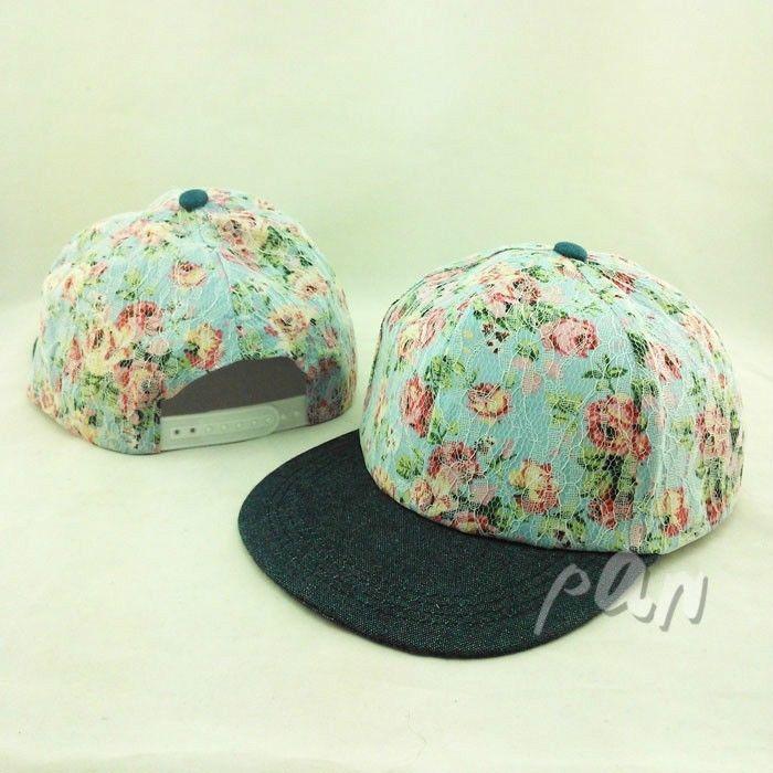 $7 Fashion Women's Lace Flat Bill Snapback Hats Summer Sun Baseball Cap Adjustable