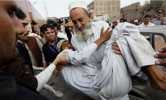 earthquake victim in Afghanistan