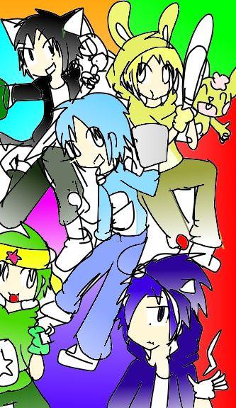 Happy Tree Friend,Sonic the hedgehog,doraemon,kurochan,keroro
