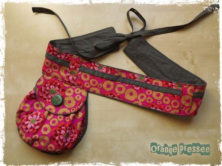 Bali flower belt / coin purse.  From Orange Pressee Creations Textiles.