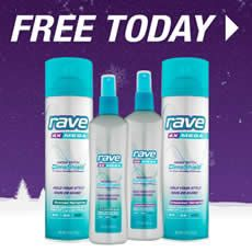Get FREE Rave Hairspray at 3PM EST!! The first 200 to sign up each day at 3PM get a free bottle of Rave! They will be doing this each day this week. Good