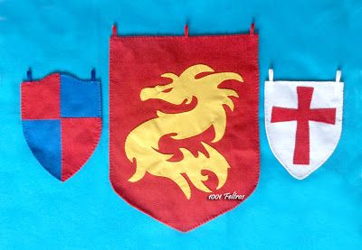 Cavaleiros e dragões feltro