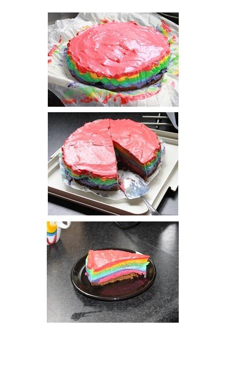 Dutch rainbow cheesecake/ regenboog kwarktaart