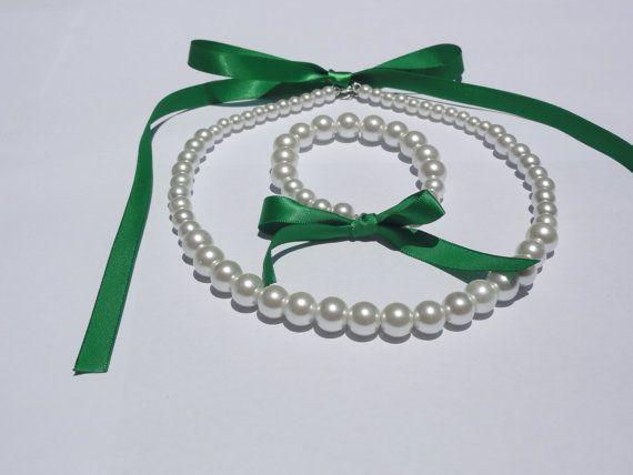 Flower Girl Jewelry Set Bridesmaid Jewelry by StunningGemsJewelry
