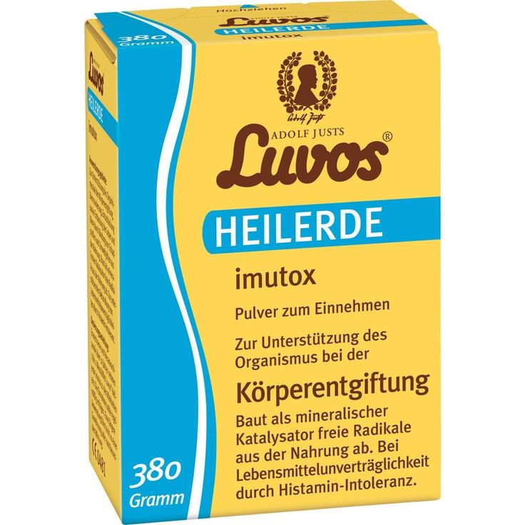 LUVOS Heilerde imutox Pulver:   Packungsinhalt: 380 g Pulver PZN: 11175412 Hersteller: Heilerde-Gesellschaft LUVOS JUST GmbH & Co. KG…