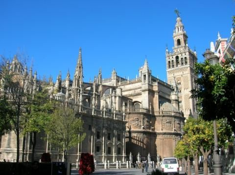 cathedral in Seville, a great place to live!