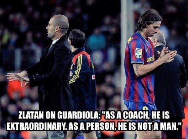 Kilka słów prawdy o Josepie Guardioli • Zlatan Ibrahimovic o Guardioli powiedział tak • Jako trener jest niezwykły, ale jako osoba >>