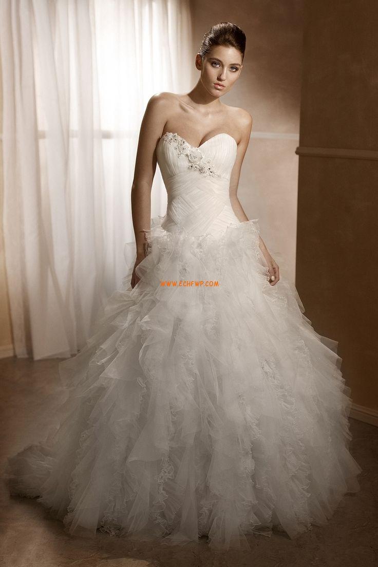Bez rukávů Nášivky Empírové Luxusní svatební šaty