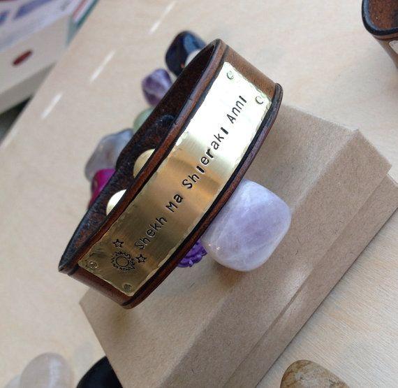 Personalized Leather Bracelet Personalized by BlueCornerCreasigns