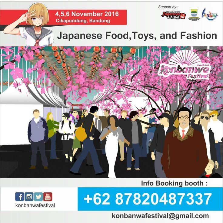 Konbanwa festival , festival makanan, mainan, cosplay bernuansakan jepang