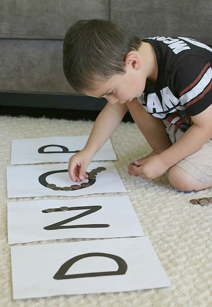 Sorting Coins with Beginning Letter Sounds: Provides practice with money recognition and fine motor skills! ~ http://BuggyandBuddy.com