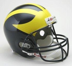 Michigan Wolverines Riddell Deluxe Replica Helmet