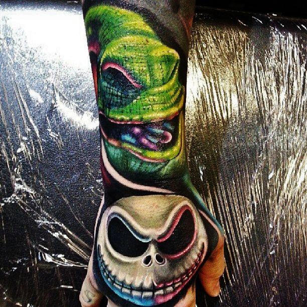 Nightmare Before Christmas Sleeve Tattoo