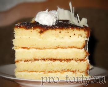 золотистый торт разрез фото