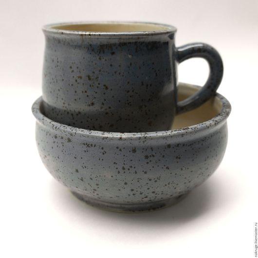 Кружки и чашки ручной работы. Ярмарка Мастеров - ручная работа. Купить Керамическая посуда - набор для завтрака. Handmade. Керамическая кружка