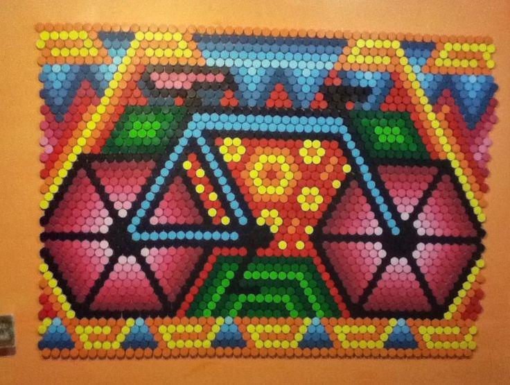 Mural de tapas, Ft. Dafne Munguia. La bicichol