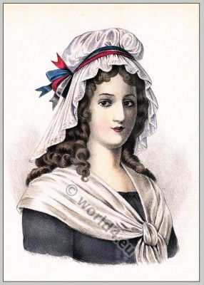 best napoleon josephine and the french revolution images on  a corday is a hairstyle worn by working class women during the french revolution this piece on the hair is also known as a mob cap