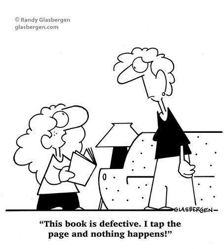Reading books vs technology :-)
