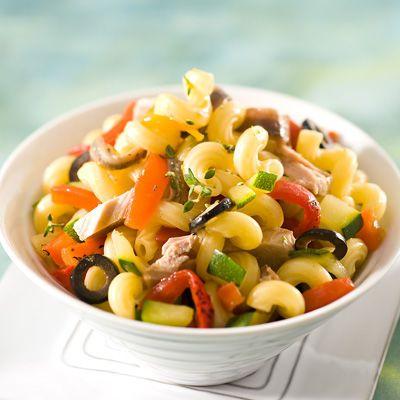 Découvrez la recette Salade de coquillettes au thon et au thym sur cuisineactuelle.fr.