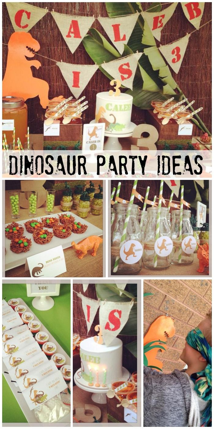 Fantastic dinosaur party ideas! See more party ideas at CatchMyParty.com. #boybirthday #birthdaycake #birthdaydecorations
