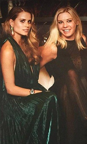 Chelsy Davy, pictured with hotel heiress Irene Forte, was a guest at the wedding of Greek socialites Filippos Lemos and Marianna Goulandris