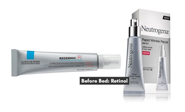 Anti-Aging Products in Your 20s and 30s   before bed- retinol, in the morning- antioxidants