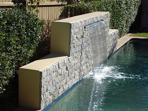 35 best images about pool water features on pinterest for Pool design water feature