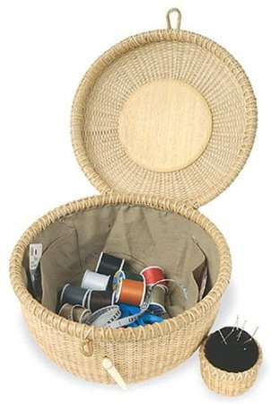 Nantucket Sewing Basket and Pin Cushion