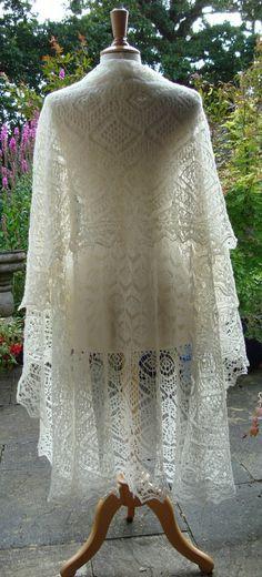 Het eBook Lerwick Lace omslagdoek ~ Shetland Lace ~ Heirloom breien ~ Sharon Miller