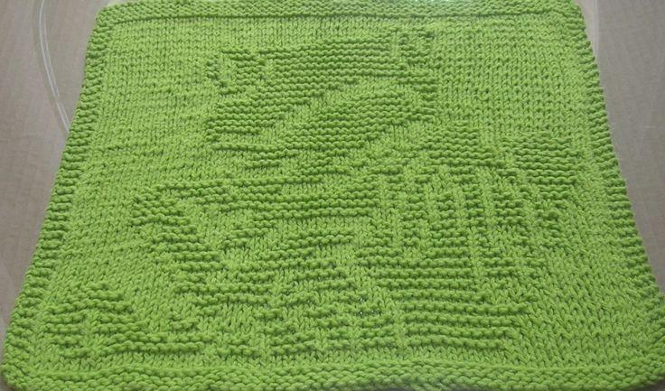 Free Knitting Pattern - Dishcloths & Washcloths : Tree Frog Dishcloth K...