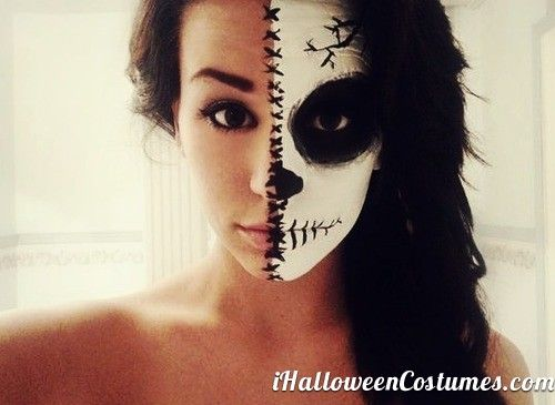 beautiful half face makeup for Halloween - Halloween Costumes 2013