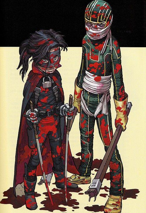 Kick-Ass & Hit-Girl por John Romita Jr.