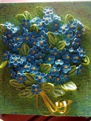 Картина, панно Квиллинг: Тема цветов всегда актуальна Бумажные полосы День рождения. Фото 3