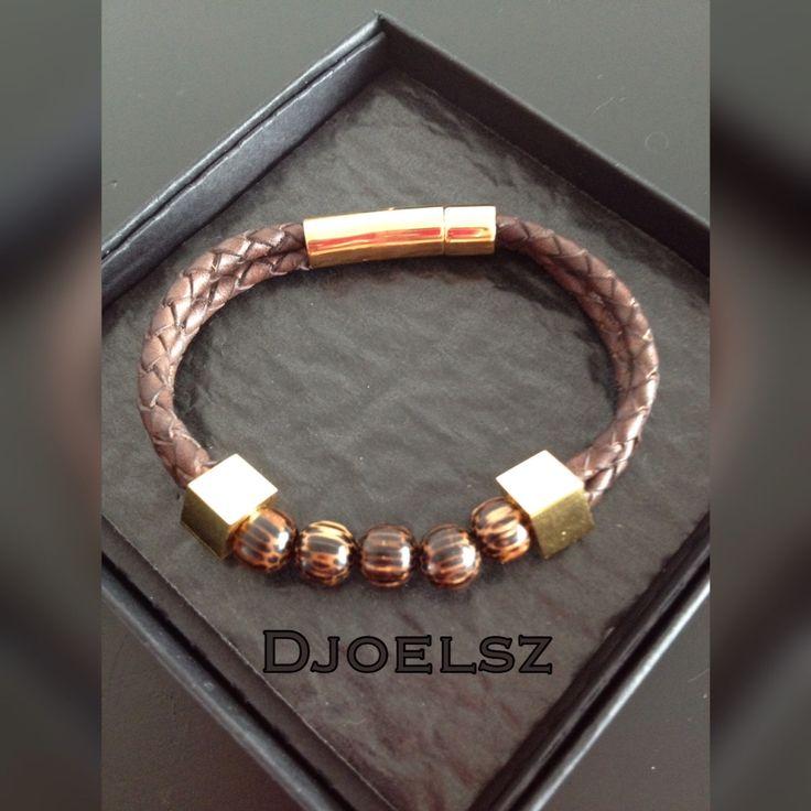 Leather men's bracelet created by Djoelsz