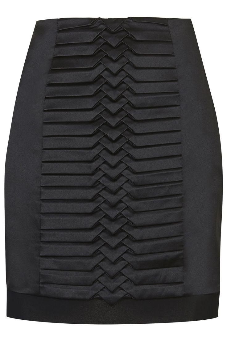 Satin Origami Pleated Skirt