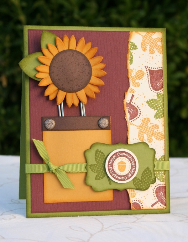 stampin up: Cards Fall, Cards Ideas, Fall Colors, Cards Scrapbook, Handmade Cards, Bookmarks Ideas, Autumn Cards, Sunflowers Bookmarks, Cards Crafts