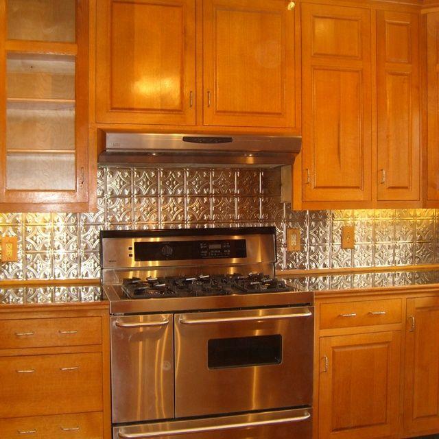 White Kitchens With Tin Back Splash Tin Backsplash