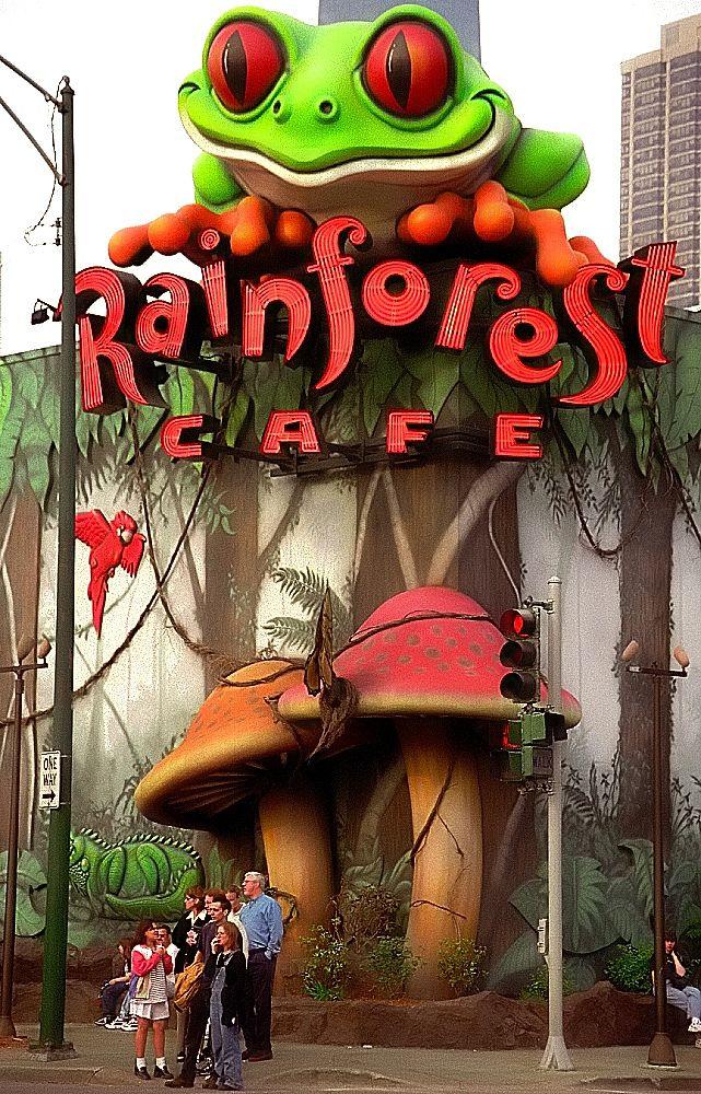 Chicago Rainforest Cafe Rainforest Cafe Chicago Restaurants My Kind Of Town