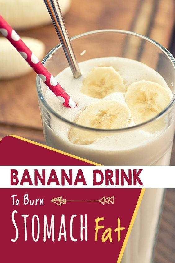 How to Burn Your Stomach Fat With This Banana Drink Recipe