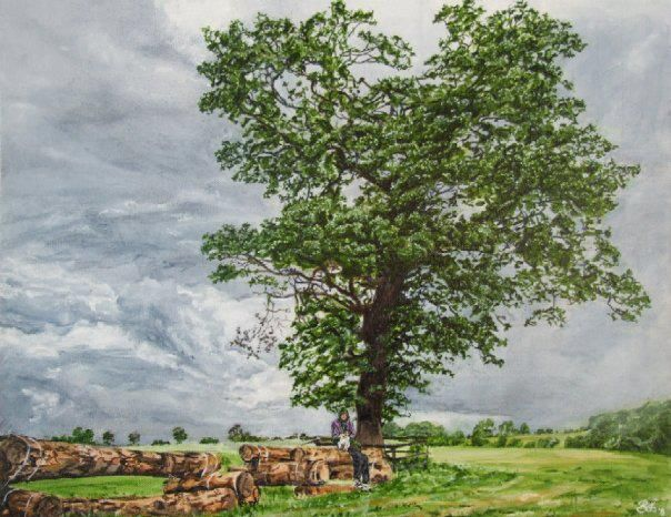 'Tree at Punchestown', a painting by Bob Gravenor. www.facebook.com/BobGravenorFineArt