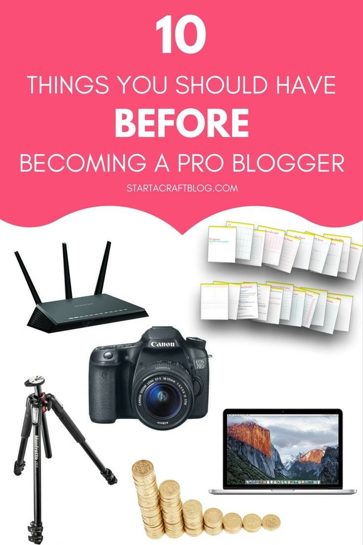 Do you want to become a pro blogger/work at home mum? There are 10 things you should have in place before you take the leap, while you read the post grab the free printable blog planner 2017 including social media planner. Check out a pro blogger home off