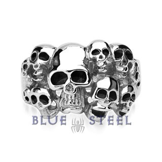 PIN IT TO WIN IT! Skull Heads: This extreme craftwork is a clear piece of artwork. The set of skulls is sculped in cool way to enhance your style, its metal finish signifies roughness and deadly dangers lying ambush. So for all those guys who take challenges without any hesitation, this could surely display your energy.  $29.99  www.buybluesteel.com