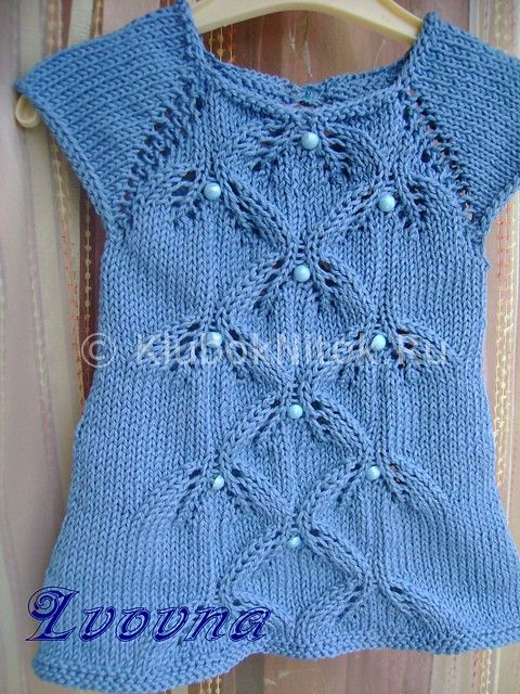 Платье для малышки спицами | Вязание для девочек | Вязание спицами и крючком. Схемы вязания.