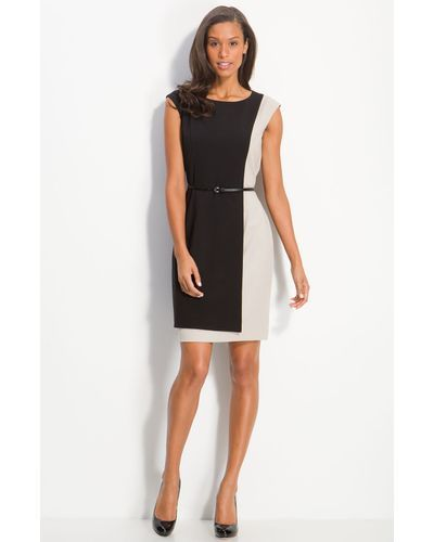 Buy Calvin Klein Women's Black Belted Colorblock Sheath Dress, starting at €60. Similar products also available. SALE now on!