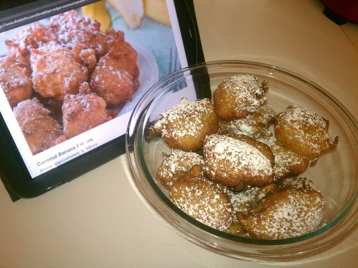 Coconut Banana fritters | Dani_Bakes.Cup-CAKES | Pinterest