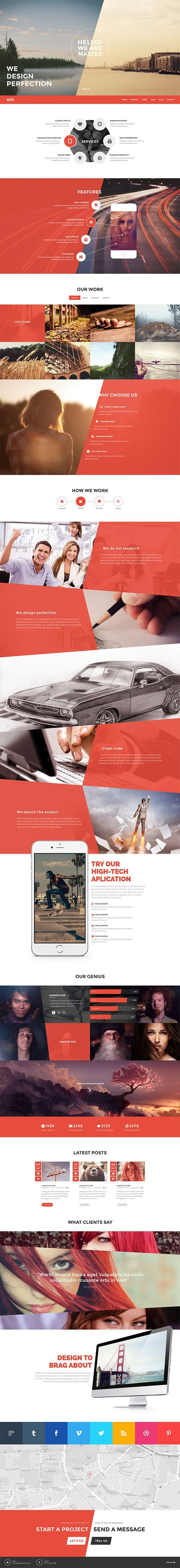 Master - Onepage Portfolio Theme by Qodepixel #wordpress #themeforest #website…