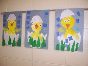 hatching chick craft for preschoolers