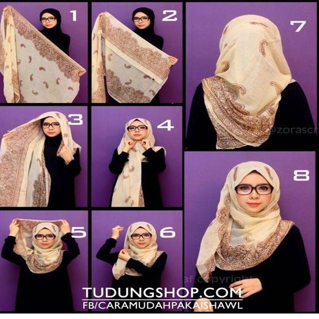 3 Minutes Pour Réaliser Ce Hijab Moderne Et Chic Pour Lunette De Vue!!! | astuces hijab