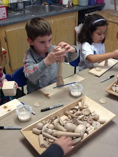 Playfully Learning: Wood Sculptures and Scientific Drawing